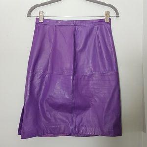 Dresses & Skirts - Purple leather skirt